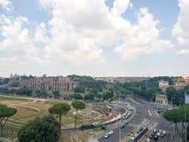 En vägföreningspunkt i Rome royaltyfri bild
