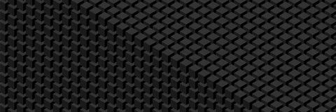 En vägg av kuber Widescreen geometrisk modell royaltyfri illustrationer