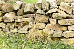 En vägg som byggs för att stå provet av tid arkivfoto