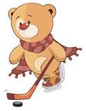 En välfylld tecknad film för leksakbjörngröngöling Arkivfoto