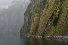 En vänd i en fjords bana Arkivbilder