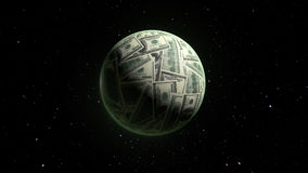 Dolar värld Arkivbild
