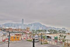en västra Kowloon och Hong Kong 2019 fotografering för bildbyråer