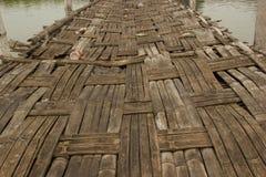 En vävd bambu Arkivbild