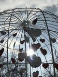 En vördnad till hjärtor och förälskelse parkerar in Shevchenko - Kyiv Royaltyfri Bild