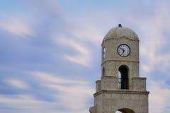 En valeur la tour d'horloge d'avenue Images stock