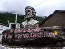 En Vallegrande d'Ernesto Che Guevara Images libres de droits