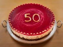 En vallmofrökaka för den 50th årsdagen Royaltyfria Foton