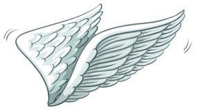 En vanlig teckning av vingar royaltyfri illustrationer
