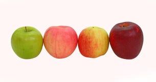 En variation av äpplen arkivfoton