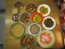 En variation av curry royaltyfria foton