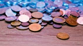 En variation av mynt Arkivbild