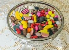 En variation av sötsaker Arkivfoto