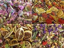 En variation av teer i diversehandel i Istanbul Arkivbild