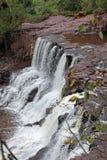 En vattenfall nära Lake Superior Fotografering för Bildbyråer