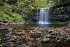 En vattenfall på den Ricketts dalgången Royaltyfri Bild