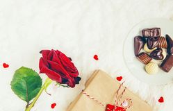 En vektorillustration valentin för dag s Arkivbilder