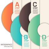 Vektorinfographicsmallen med cirklar Arkivbilder