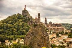 法国,奥韦涅,黎火山丘en Velay 免版税图库摄影
