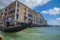 En Venecia (Grand Canal) Fotografía de archivo libre de regalías