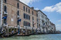 En Venecia (Grand Canal) Fotografía de archivo