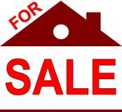 En venta etiqueta como pequeña casa rojo oscuro libre illustration