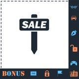 En venta plano del icono libre illustration