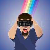 En verres de réalité virtuelle Photos stock