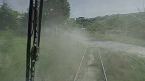 En video av en trainride arkivfilmer