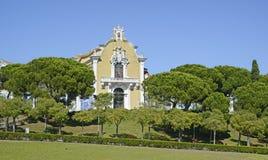 En vieux parc à Lisbonne au Portugal images libres de droits
