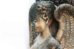 En vila staty i mjukt ljus royaltyfria foton