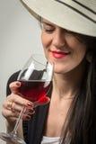 En vin est la vérité Photographie stock libre de droits