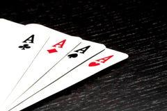 En vinnande pokerhand Fotografering för Bildbyråer