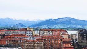 En vinter i staden arkivbild