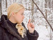 En vinterfördjupning. royaltyfri bild
