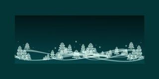 En vinternattbakgrund 3D, kricka stock illustrationer
