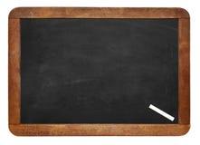 En vit krita på tomt bakgrund/mellanrum för kritabräde fotografering för bildbyråer