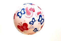 En vit rubber boll Fotografering för Bildbyråer