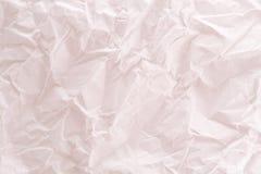 En vit skrynklig pappers- textur fotografering för bildbyråer