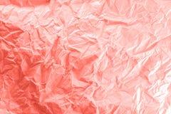 En vit skrynklig pappers- textur arkivfoton