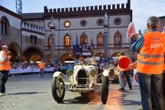 En vita Bugatti T35A Arkivfoto