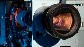 En vitascope visar en film Arkivfoto