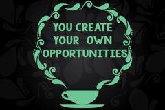 En vous écrivant à apparence de note créez vos propres occasions La présentation de photo d'affaires soit le créateur de votre ta illustration de vecteur
