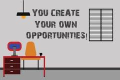 En vous écrivant à apparence de note créez vos propres occasions La présentation de photo d'affaires soit le créateur de votre de illustration de vecteur