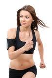 En vrouw die van de sport aanstoot de loopt Stock Fotografie