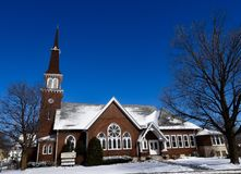 En Waukesha kyrka Arkivfoton