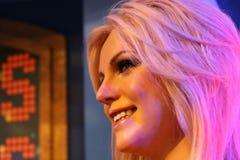 En Waxwork av Britney Spears royaltyfri bild