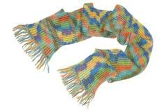 en woolen halsduk med frans Arkivbild