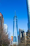 En World Trade Center i det finansiella området av NYC Royaltyfria Foton