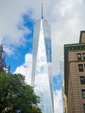 En World Trade Center i i stadens centrum New York City Arkivfoton